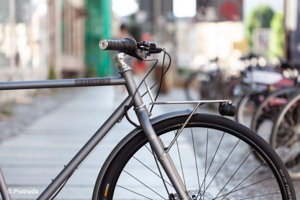 Frontansicht- Creme Cycles - Ristretto Thunder Moonlight - Pistrada - Fahrradladen im Westen von Leipzig